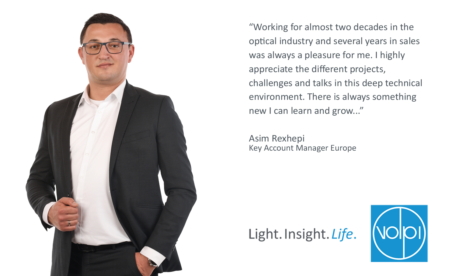 Appointment of Asim Rexhepi as Key Account Manager Europe