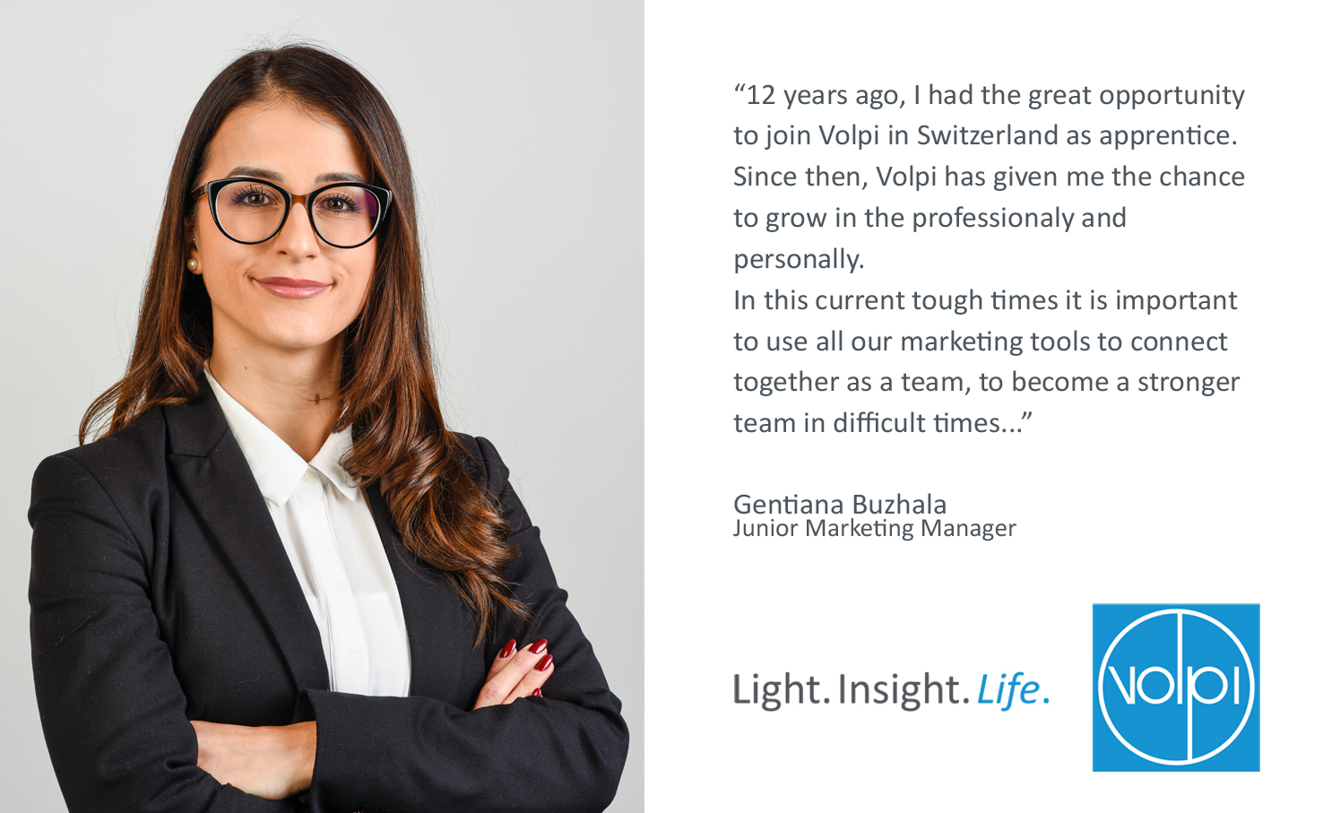 Introducing Gentiana Buzhala, Junior Marketing Manager at Volpi Group